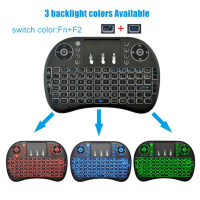 3 Color i8 English Backlight Mini Wireless Keyboard 2.4GHz Touchpad Handheld for Android TV BOX Laptop Backlit